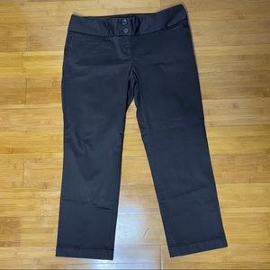 The Limited Drew Fit cuffed cropped pant brown 8